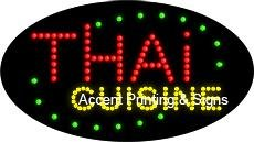 Thai Cuisine Flashing & Animated LED Sign (High Impact, Energy Efficient) by Accent Printing & Signs