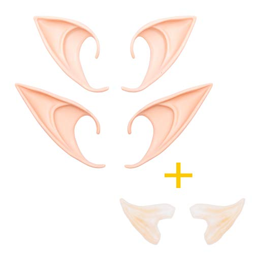 Whaline 3 Pairs Latex Elf Ear Pixie Dress