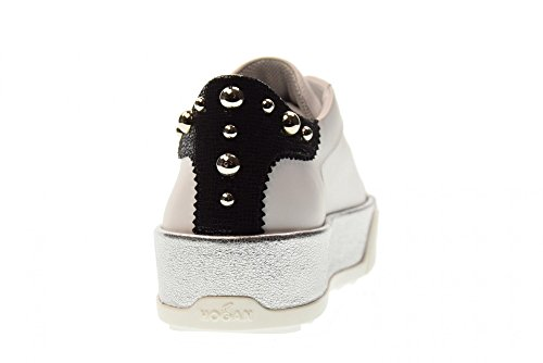 Low HXW3200AH10IVX04A3 R320 Hogan White Woman Black Sneakers Shoes Platform 1EBzE