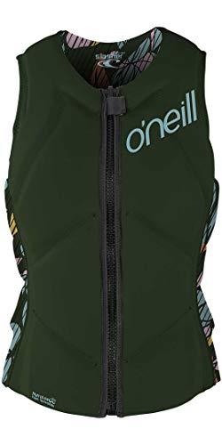 O'Neill Womens Slasher Comp Watersports Waterski Jetski Wakeboarding Safety Impact Vest – Top – Dark Olive Baylen
