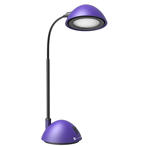 Desk Lamp Adjustable Gooseneck for Reading, Crafts, Writing- Modern Design Light for Bedroom, Home, Office, and Dorm by Lavish Home (Purple)