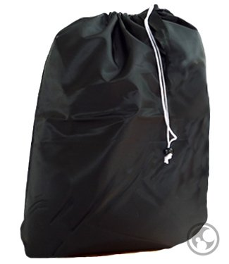 UPC 640522586714, Laundry Bags with Drawstrings and Locking Closures, Color: Black, Small Size: 22x28