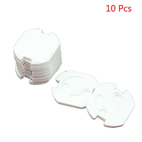 (NszzJixo9 Ultra Clear Outlet Covers - 10Pcs Safety Sower Socket Protection Cover Insulation Shockproof Hole for Home & Office   Easy Installation   Protect Toddlers & Babies   White)