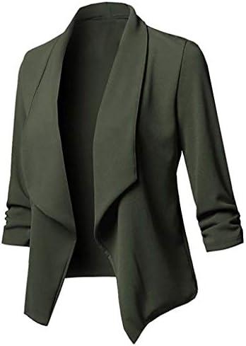 [해외]jin&Co Womens Jackets and Blazers Draped Sleeve Casual Office Business Jacket Open Front Cardigan Outwear / jin&Co Womens Jackets and Blazers Draped Sleeve Casual Office Business Jacket Open Front Cardigan Outwear
