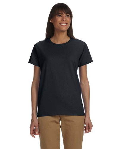 Gildan Ladies Ultra Cotton 100% Cotton T-Shirt, Medium, Black