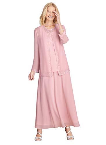 AmeriMark Beaded 3-Piece Evening Gown Rose ()
