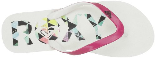 Roxy - Sandalias de caucho para mujer Blanco (Blanc (White))