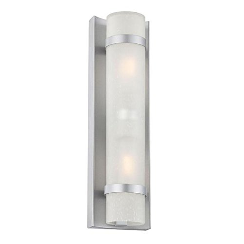 Acclaim 4701BS Apollo Collection 2-Light Wall Mount Outdoor Light Fixture, Brushed Silver