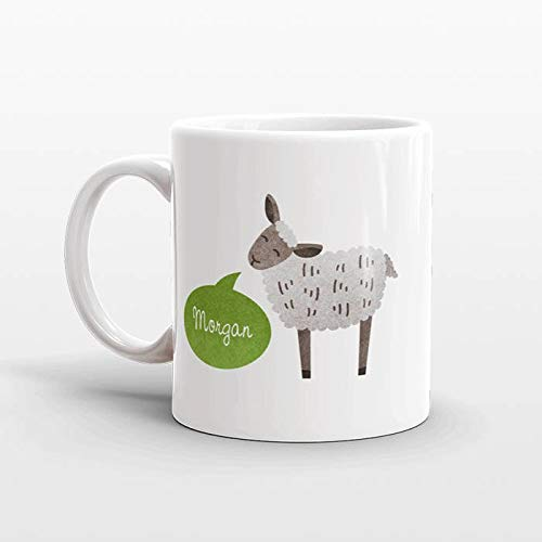 Custom Name Coffee Mug Lamb Sheep Gift Idea for Women Men Her Him Mom Dad Adult Kid Animal Lover Best Friend Birthday Teacher Personalized 11 oz Tea or Coffee ()