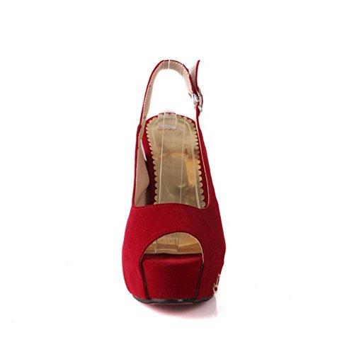 Sandales Rouge Rouge femme femme BalaMasa BalaMasa BalaMasa pour Sandales pour q65fEgw