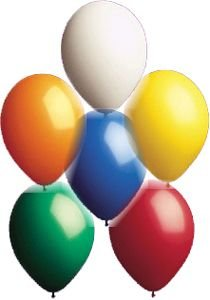 17'' Seal-Sealing Valved Latex Outdoor Balloon Assortment - Pack of 5