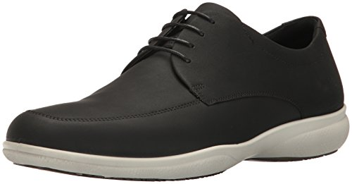ECCO Men's Grenoble Apron Toe Tie Oxford, Black Oiled Nubuck, 45 EU / 11-11.5 ()