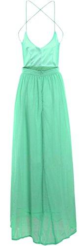Grün Kleid Neckholder Grün Damen Drasawee pOznwq0t