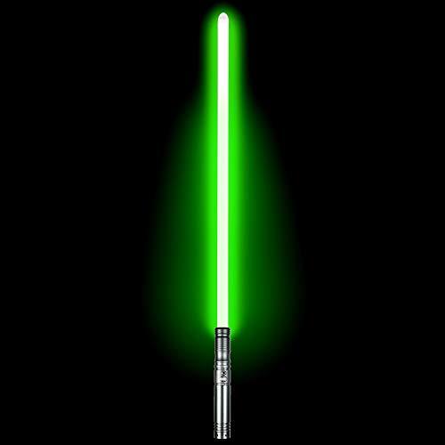 Duel Light Saber - Metal Aluminum Hilt Force FX Lightsaber with 6 Sound Fonts LED Rechargeable Light Sabers for Adults and Kids (Gun)