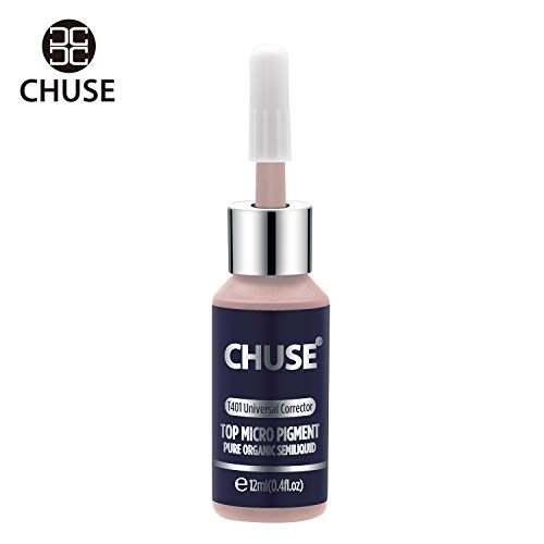 CHUSE T401, 12ml, Universal Corrector, Passed SGS,DermaTest Top Micro Pigment Cosmetic Color Permanent Makeup Tattoo Ink (Best Permanent Makeup Ink)