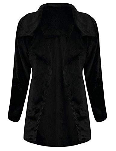 Mujer Mujer Abrigo Para Negro Negro Riklos Riklos Para Abrigo Riklos T4CqwxPB