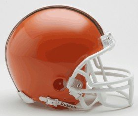 Cleveland Browns 1975-2005 Throwback Replica Mini Helmet w/ Z2B Face (Brown Mini Helmet Face Mask)