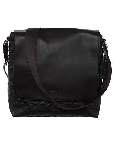COACH Mens Leather Hand shoulder bag F28577 (Black)