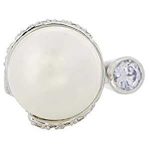 Giro Woman's Alloy Pearl Stone Ring - G0064-18 mm
