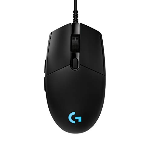 Logitech G PRO Wired Gaming Mouse, Hero 16K Sensor, 16000 DPI, RGB, Ultra Lightweight, 6 Programmable Buttons, On-Board Memory, Built for Esport, Compatible with PC/Mac – Black