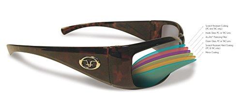 Flying Fisherman Maverick Polarized Sunglasses (Matte Black Frame, Amber Lenses)