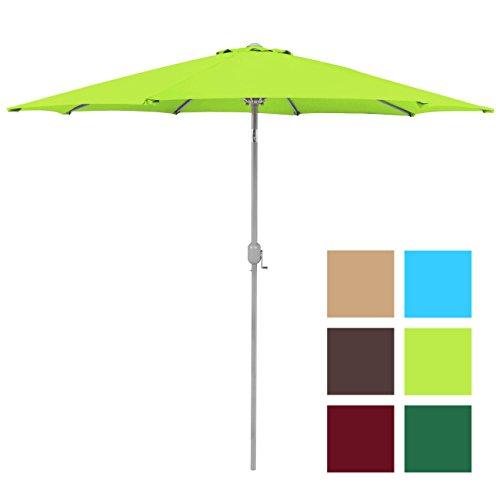 Best Choice Products 9ft Aluminum Outdoor Umbrella Patio umbrella w/crank Tilt-Light Green -