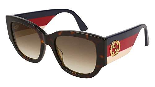 Gucci Brown Gradient Sunglasses GG0276S-002 53