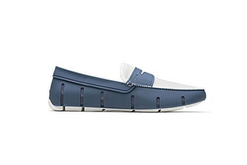 SWIMS Penny Loafer in Deep Slate/White, Size 12.5 by SWIMS