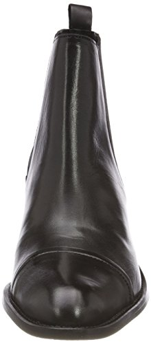 Schwarz black Boots Dress Femme Bianco Chelsea SqnwITpBO
