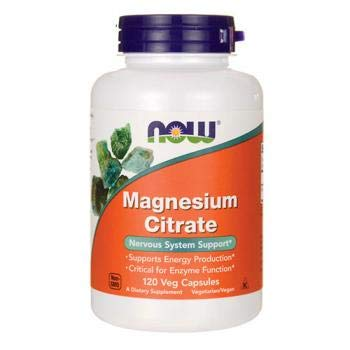 Now Foods Magnesium Citrate 200 mg. 100 cpr. Puro Magnesio ...