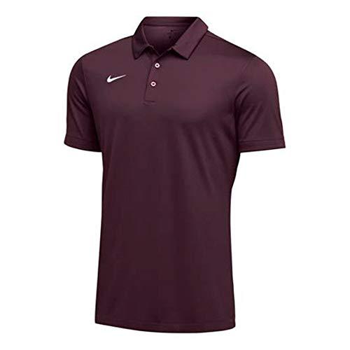 Nike Mens Dri-FIT Short Sleeve Polo Shirt (Dark Maroon, X-Large)