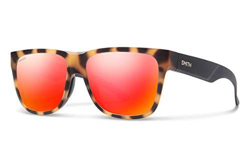 Smith Lowdown 2 Carbonic Polarized Sunglasses, Matte Honey Tort, Carbonic Polarized Red Mirror