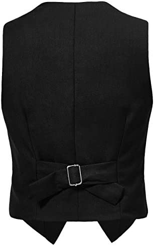 Visaccy 3 Buttons Boys Girls Fully Lined Formal Suit Vest