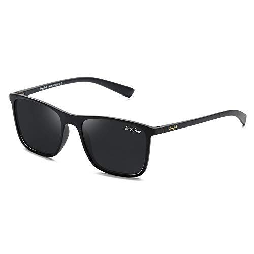 GREY JACK TR90 Material Polarized UV400 Protected Rectangle Sunglasses for Men Women 1325