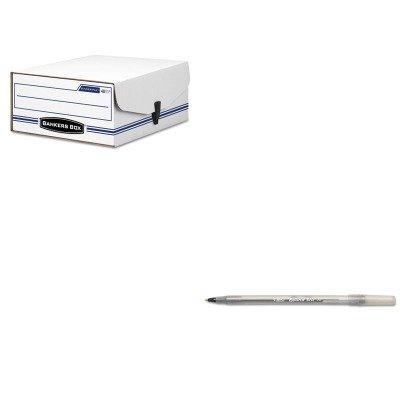 KITBICGSM11BKFEL48110 - Value Kit - Bankers Box Liberty Binder-Pak Storage Box (FEL48110) and BIC Round Stic Ballpoint Stick Pen ()