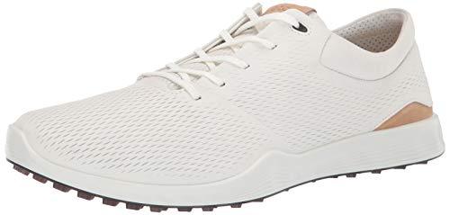 ECCO Men's S-Lite Golf Shoe, White Yak Leather, 10 M US ()