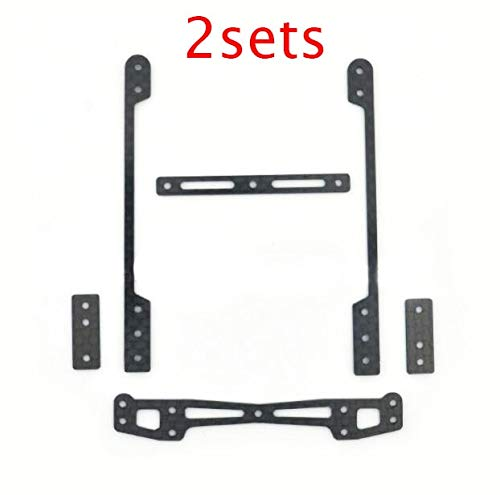 Accessories 2 Sets Rear Carbon Fiber Reinforcing Plate Roller Stay for MA/AR/MS Chassis of Hockus Mini 4WD Car Model