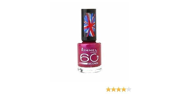 Amazon.com : NEW Rimmel 60 seconds One-Coat Nail Polish 530 Pulsating : Beauty