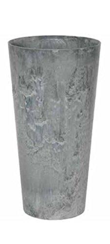 Blumenübertopf Artstone Clair Vase aus Kunststoff, sonnen-und regenbeständig für Innen und Außen, Farbe Grau, Ø 37cm Höhe 70cm