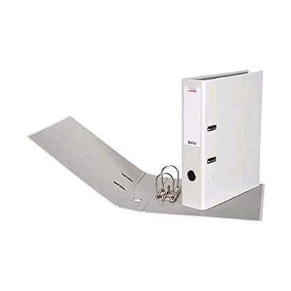 6 Biella - Archivadores de cartón de color blanco A4 4 cm D/PP ...