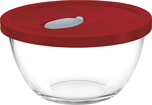 Treo Mixing Bowl Set with Lid  1 Ltr_Assorted_2 Pcs