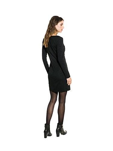 Smash Begonia, Vestido Básico para Mujer Negro (Black)