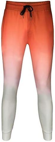 メンズ3D段階的フィットネススポーツ弾性パンツファッションテレコントロール段階的パンツ