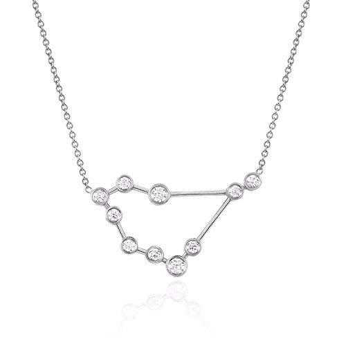 espere Sterling Silver Zodiac Necklace Constellation Jewelry Birthday Gift Sorority Sister Gift [Capricorn - Dec 22 - Jan 19]