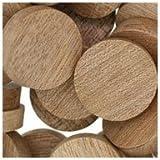 WIDGETCO 1'' Mahogany Wood Plugs, Face Grain