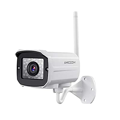 Outdoor WiFi Security Camera- 1080P HD Video Surveillance System - WiFi, Waterproof, IP Night Vision Outdoor Camera with 2-Way Audio and iOS, Android Compatibility