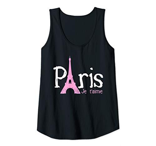 Womens Paris Je T'aime - Eiffel Tower French France Souvenir Tank Top