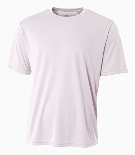 White Undershirt Baseball (A4 Men's Cooling Performance Crew Short Sleeve T-Shirt, White, 3X-Large)