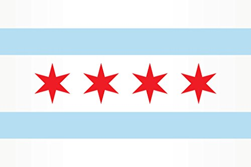 Chicago City Flag Poster 12x18 inch]()