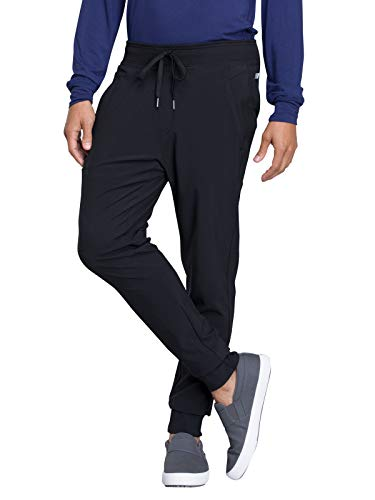 Cherokee Infinity CK004A Men's Natural Rise Jogger Pant Black XL Short